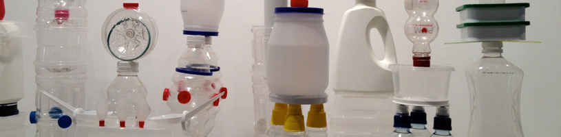 Tracey Clement, 'Plastic City' (detail), 2012, plastic containers used in 12 months, dimensions variable.